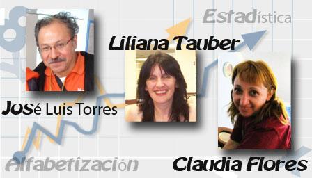 José Luis Torres, Liliana Tauber y Claudia Flores