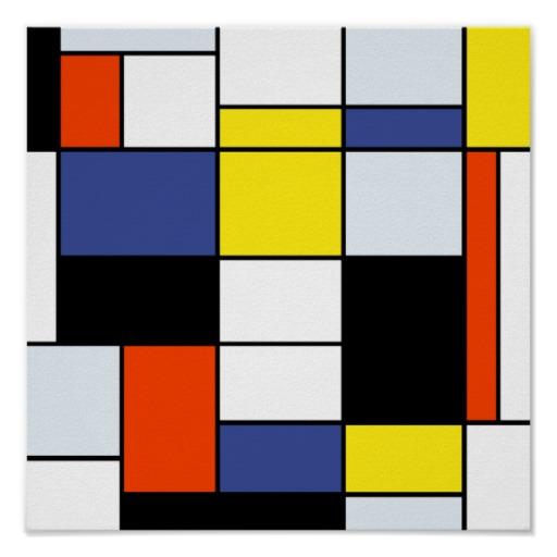 cuadros de Mondrian